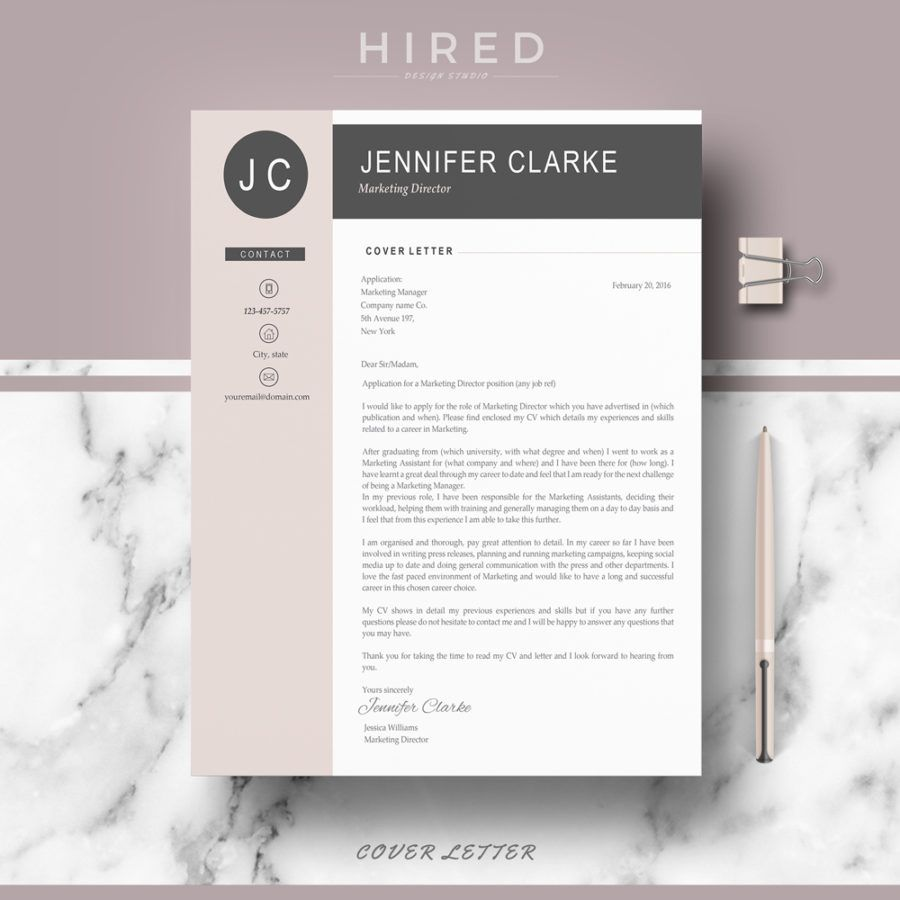 "Professional & Modern Resume Template for MS Word: ""Jennifer ..."