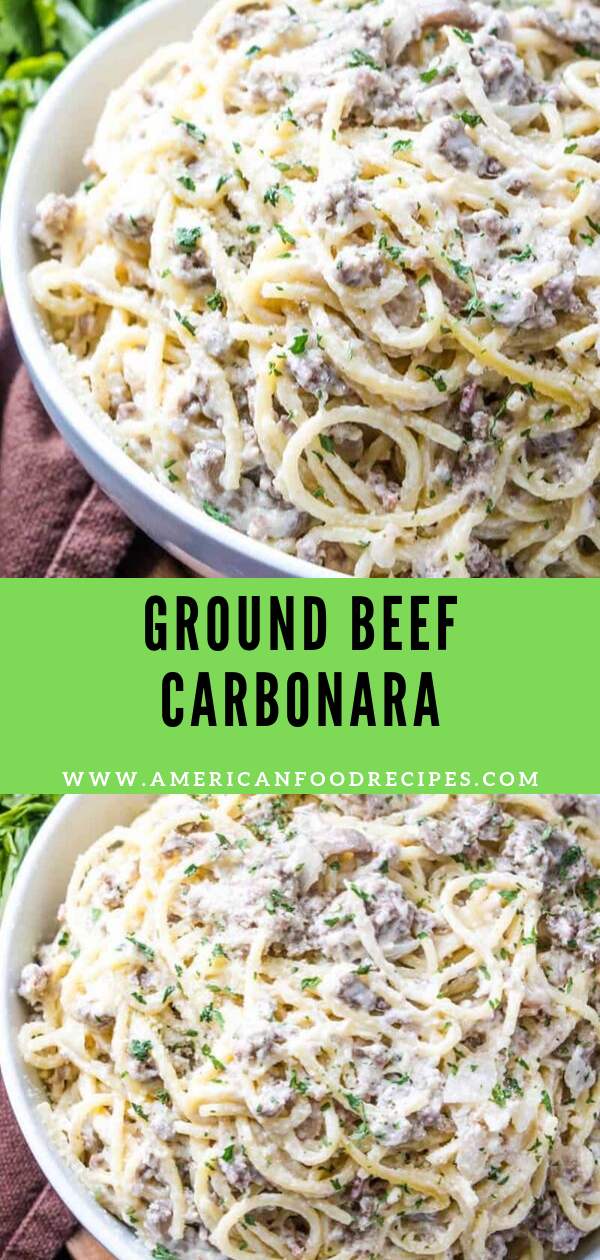 GROUND BEEF CARBONARA