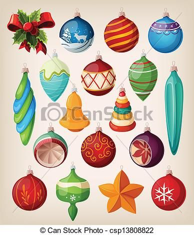 retro christmas tree ornaments - Google Search | Printable Stuff ...