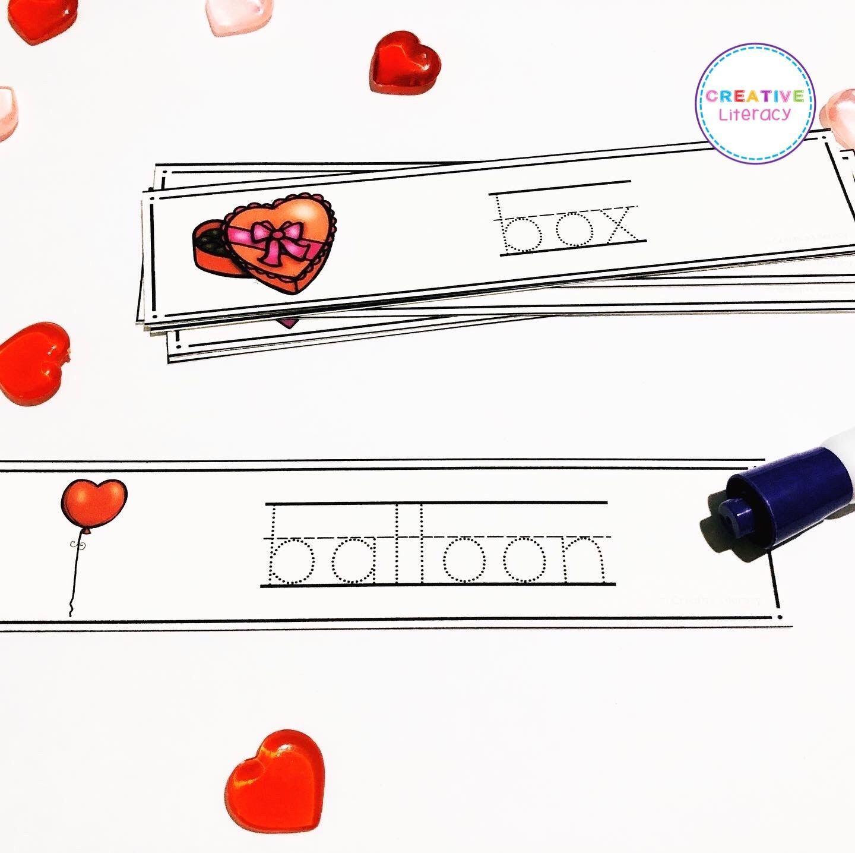 Valentine Handwriting Practice Cards