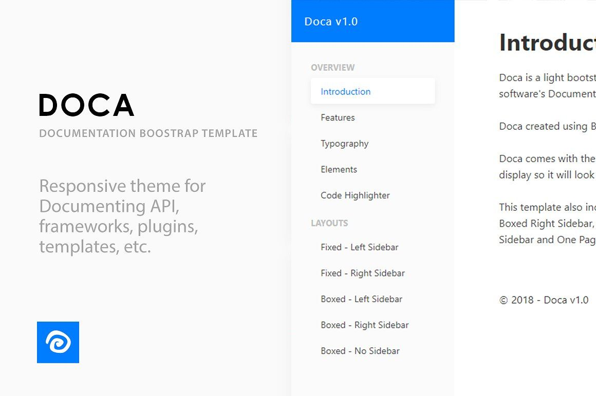 Doca Documentation Template Good Addition Responsive Features Website Template Design Templates Web Themes