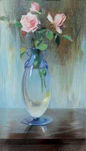 Vase mit Rosen - Paul Mathiopoulos