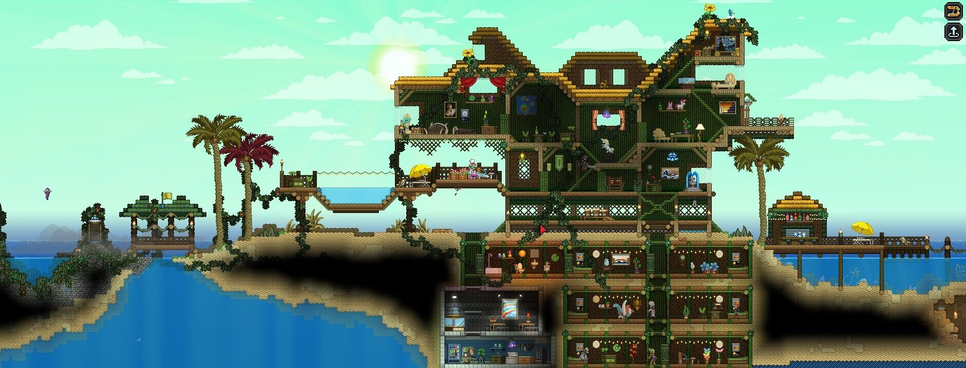 Starbound House Designs Beautiful Wiring Guide Beach Terraria And Pinterest