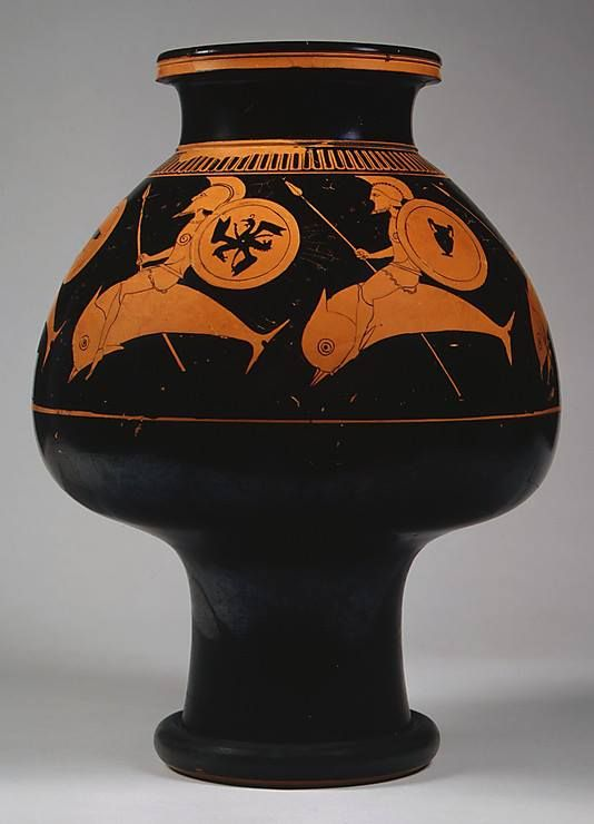 Terracotta Psykter Vase For Cooling Wine Attributed To Oltos