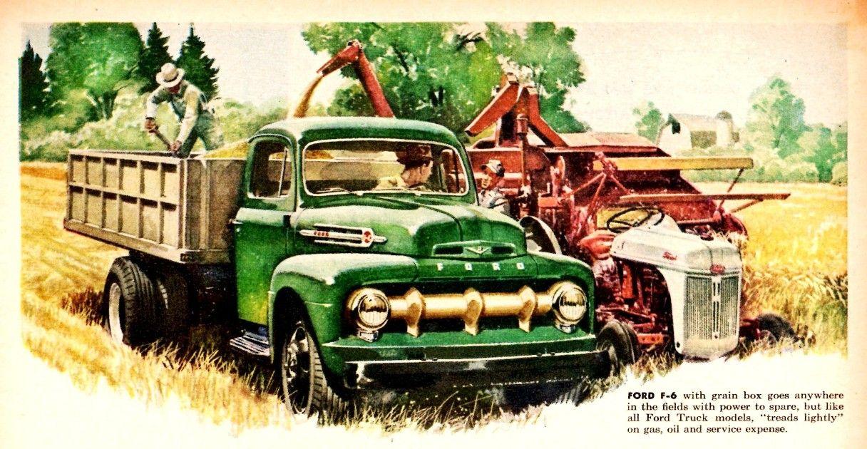 1952 Ford Truck   1952 Ford Grain Box Truck