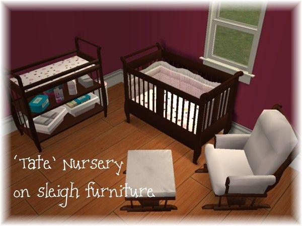 Mod The Sims - \u0027Tate\u0027 Nursery Sims 4 meuble Pinterest Sims and