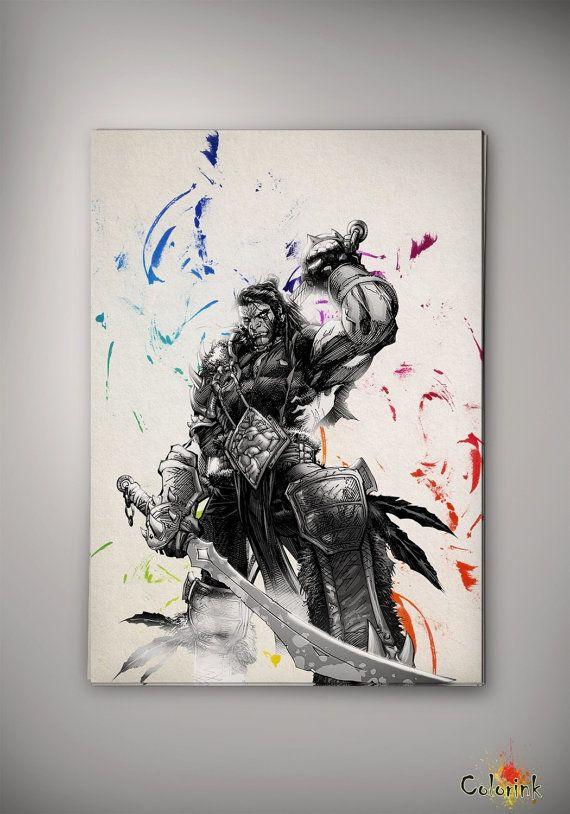 World of Warcraft Watercolor illustrations Art Print 8x10 11x16 Wall ...