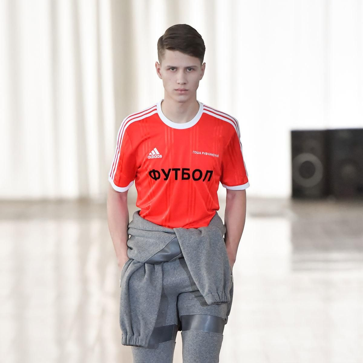 premium selection 11a0a 1d079 gosha rubchinskiy debuts adidas and stephen jones collabs at his  autumn winter 17 show