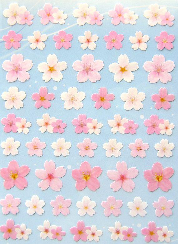 Cherry Blossoms https://www.etsy.com/listing/176292612/beautiful-japanese-stickers-sakura #Japan #Etsy #flower #flowers #pink