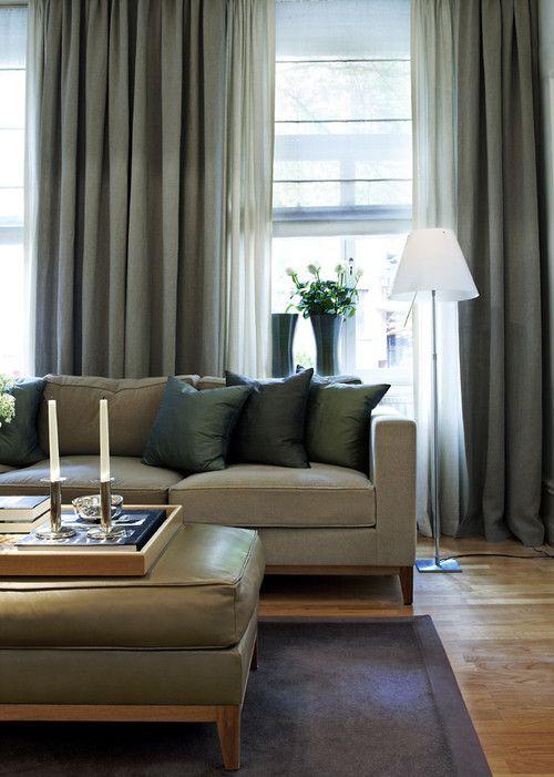 gröna gardiner vardagsrum