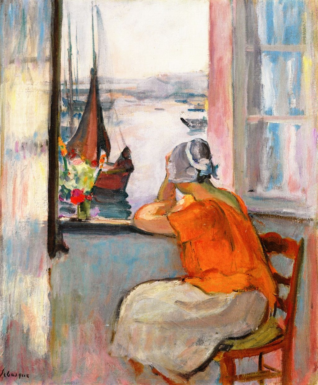 henri lebasque jeuen femme devant la fenetre ouverte a l ile d yeu 1920 henri lebasque. Black Bedroom Furniture Sets. Home Design Ideas