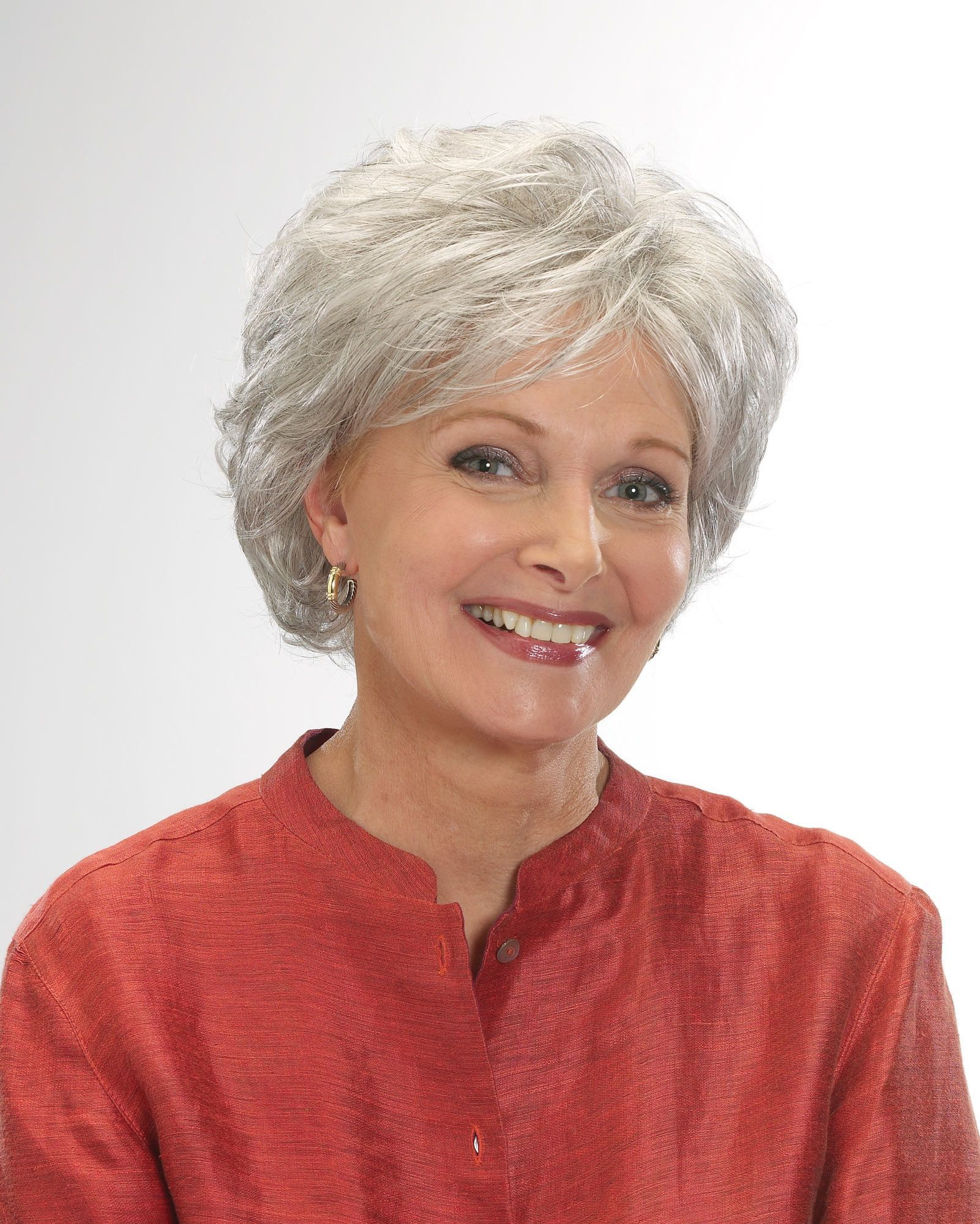 Gloria | Short hair with layers, Grey hair styles for ...