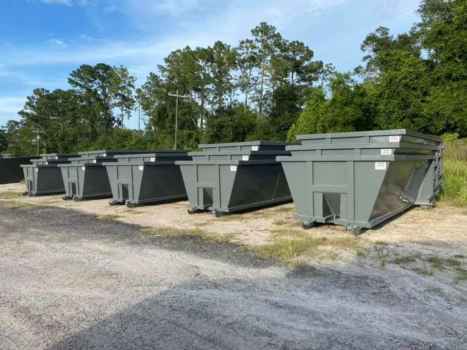 Gray Roll Off Trailer For Sale American Made Dumpsters In 2020 Trailers For Sale Dumpsters American Made