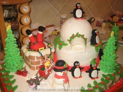 Coolest Christmas Birthday Cake Christmas birthday cake