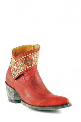 Womens Old Gringo Clovis Cowboy Boots Red Bl1446
