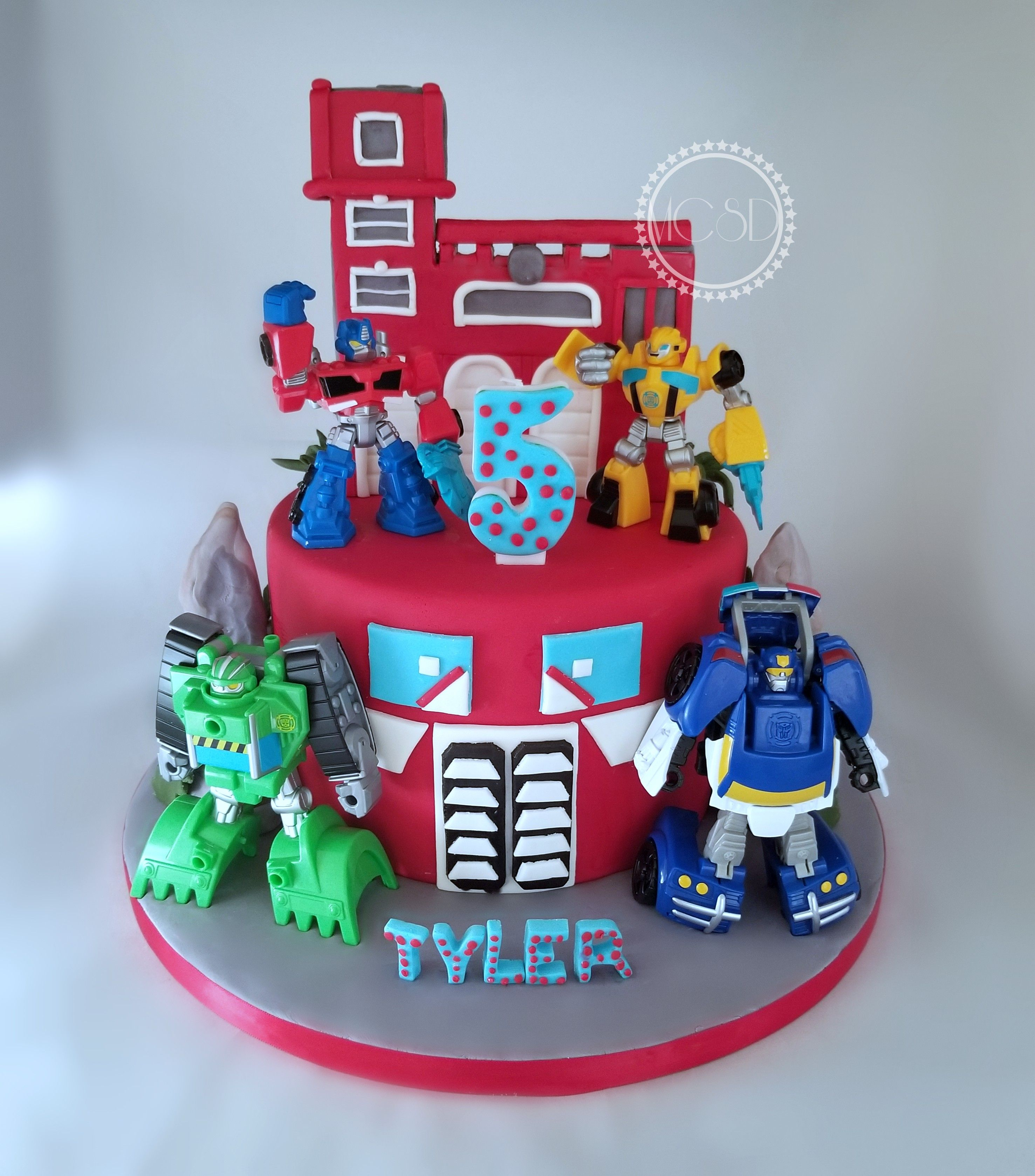 Remarkable Rescue Bots Cake With Images Rescue Bots Cake Rescue Bots Funny Birthday Cards Online Alyptdamsfinfo