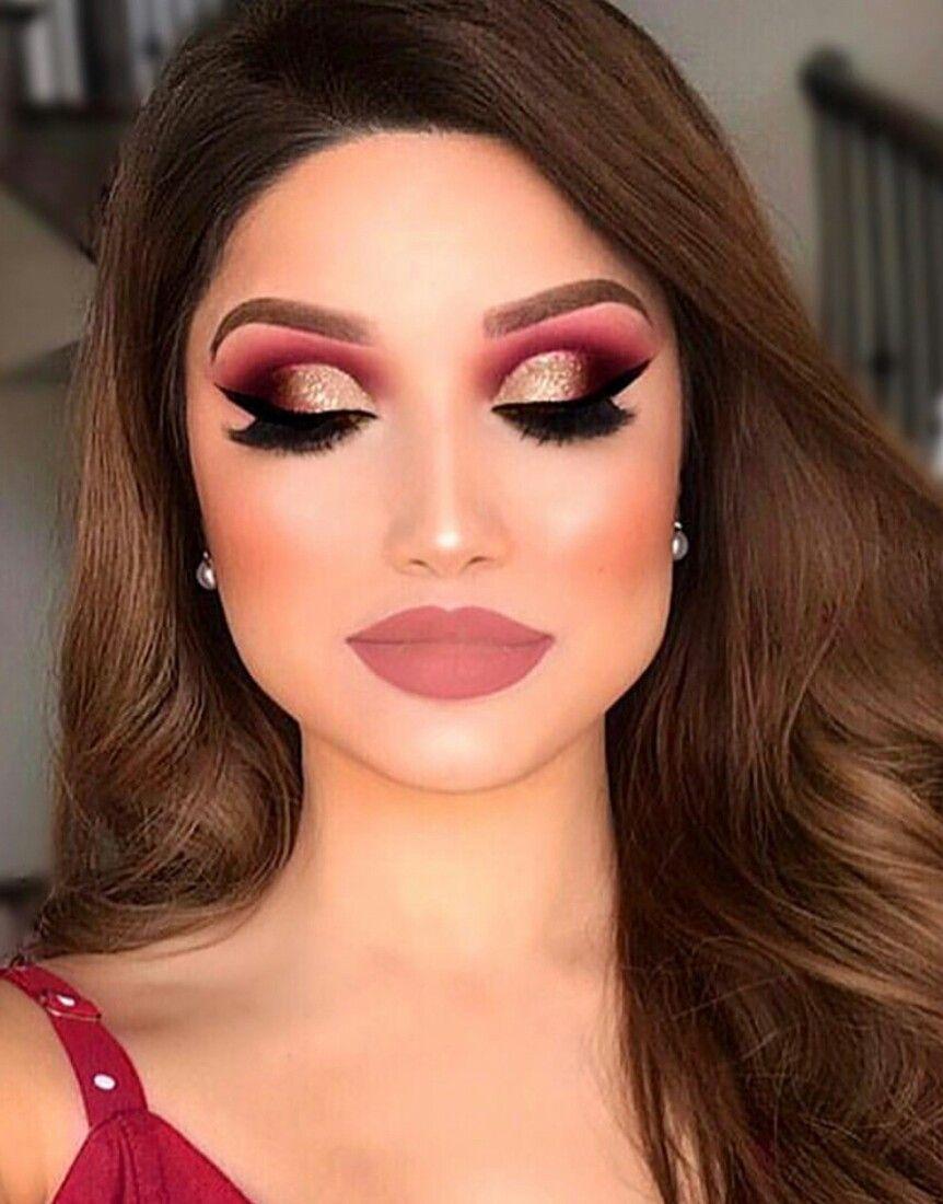 Red Eye Makeup By Aleksandra Simonovic On Makeup Red Dress