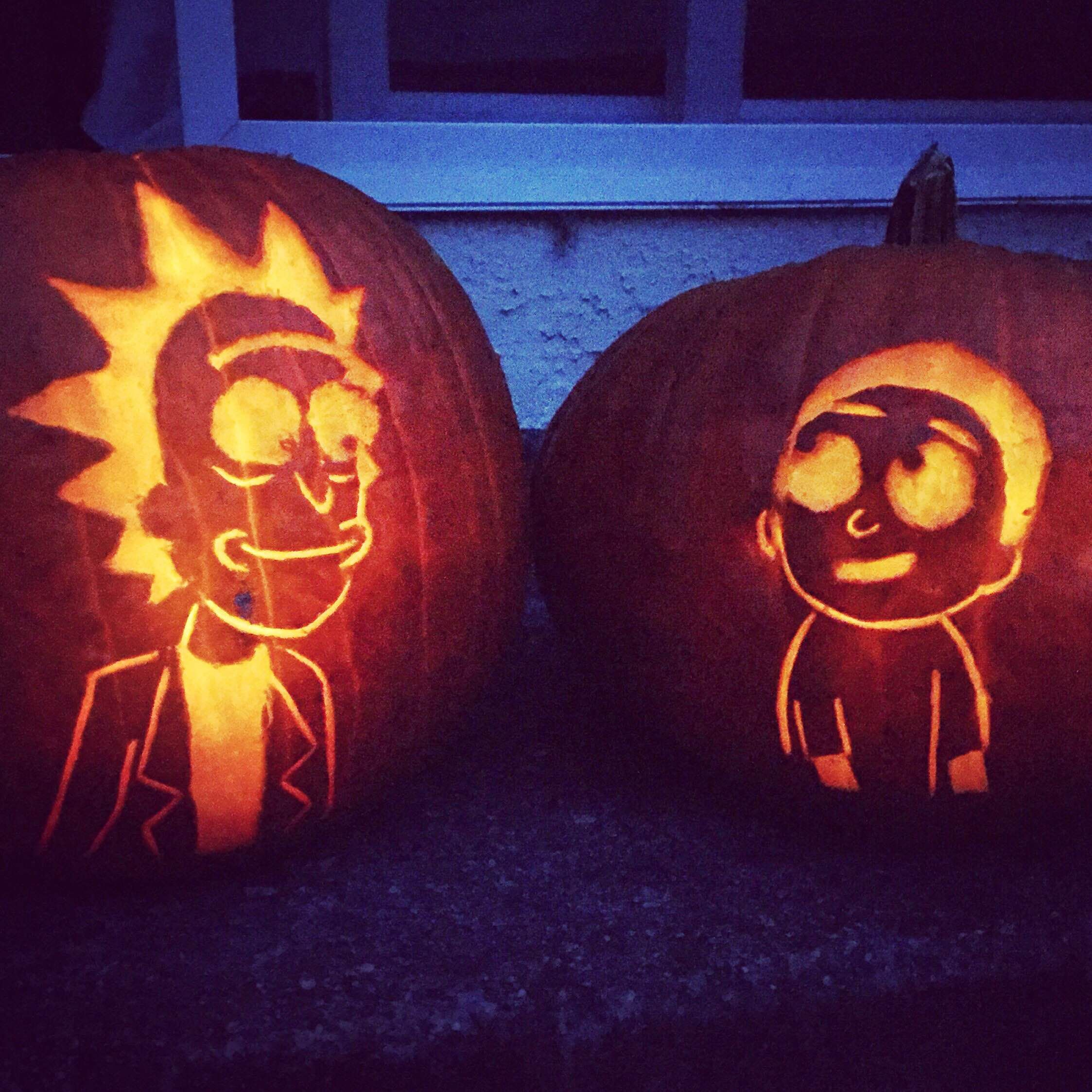 rick and morty pumpkin carving Google Search