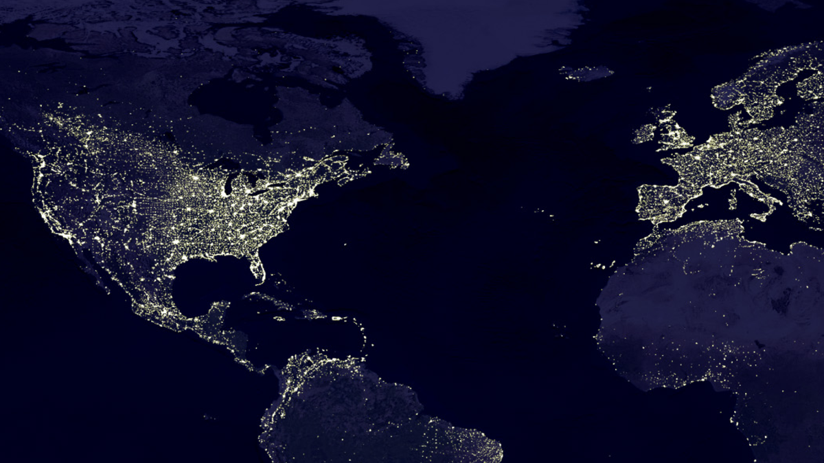 Maps That Explain The Global Economy Global Economy - Satellite map of se us at night