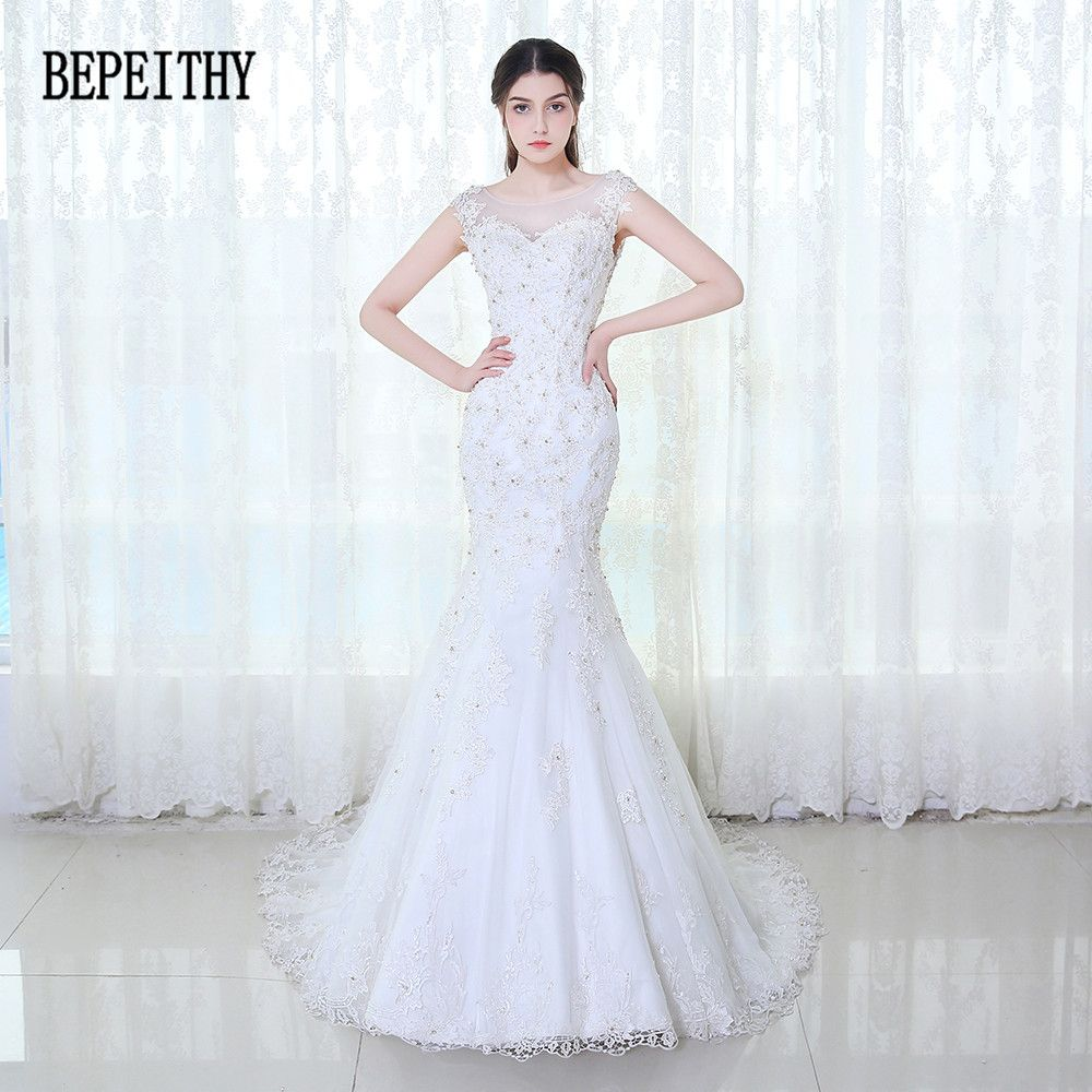 Click to buy ucuc bepeithy elegant sexy mermaid appliques lace