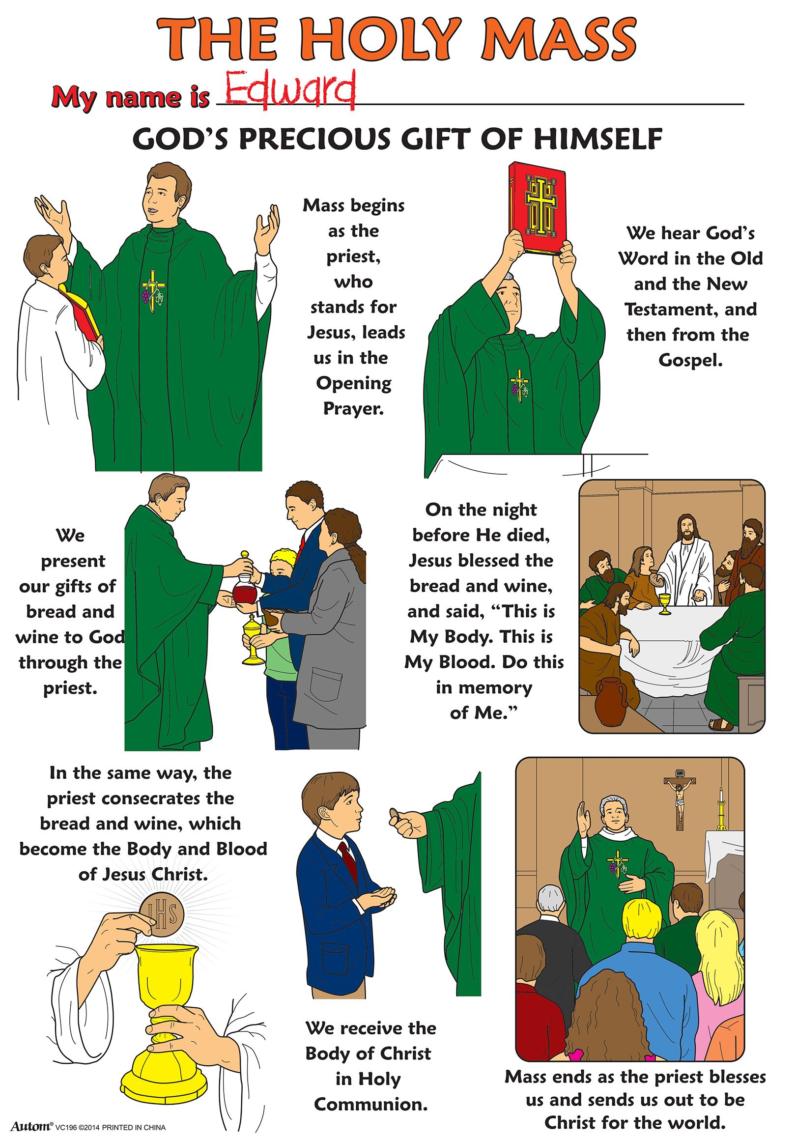 Color Your Own Poster - The Holy Mass - 50/pk   Religion   Pinterest ...
