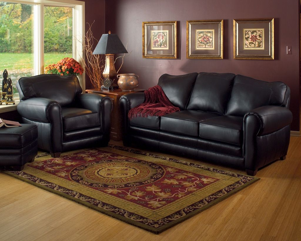 Lazy Boy Leather Sofa Sets Black