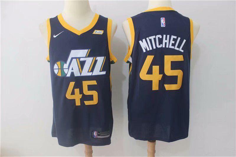31ef478a8a1a Men Jazz MITCHELL 45 Basketball Jersey