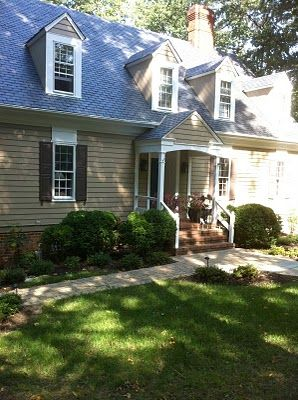 Superb Benjamin Moore Siding In Alexandria Beige HC 77, White Trim And Topeka Taupe  1463