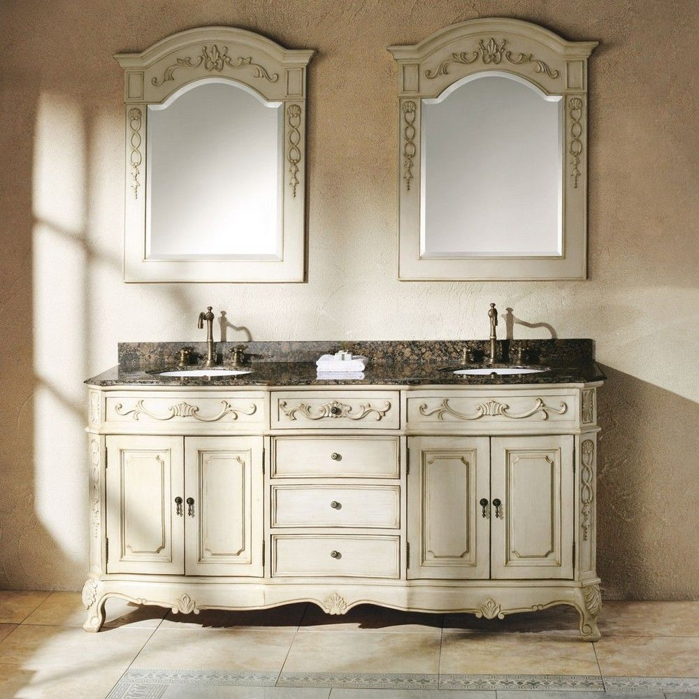 "Naples 72"" Antique Double Sink Bathroom Vanity By James Martin"