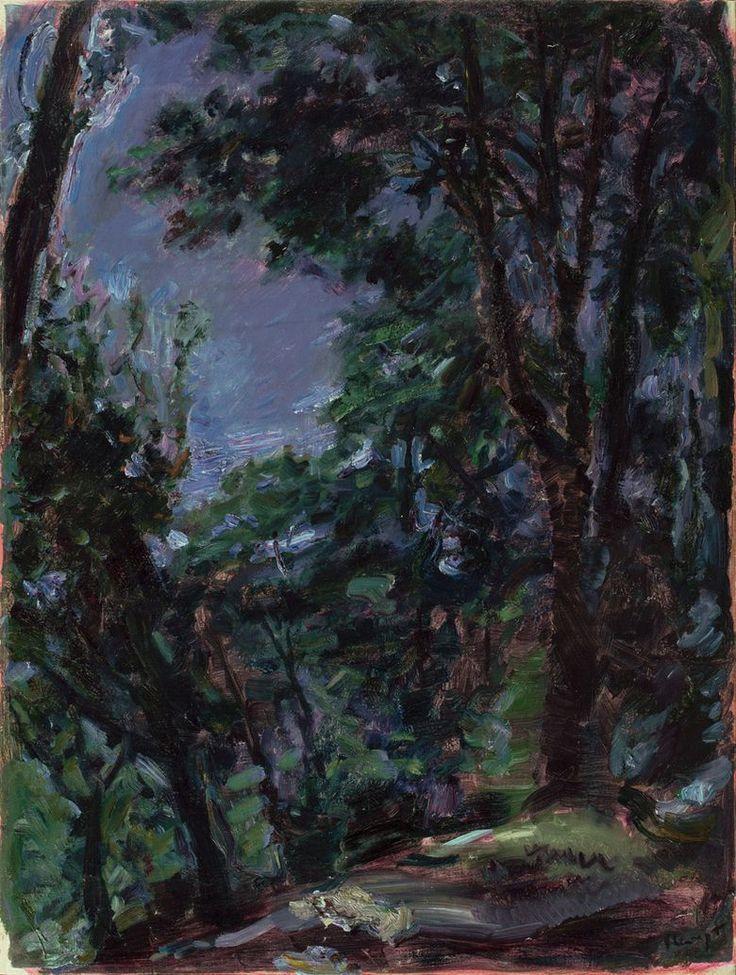 Night Park (Neukastel)  -  Max Slevogt  1917. #art #painting