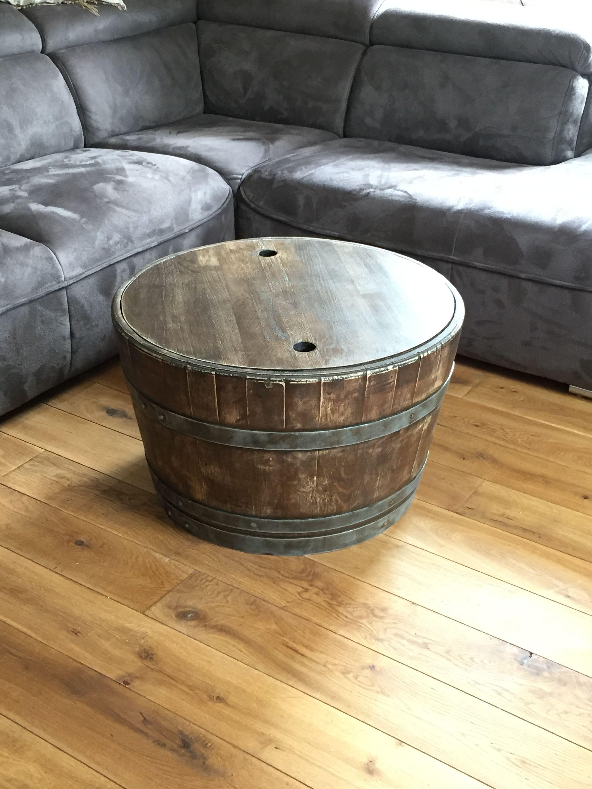 Weinfass Couchtisch In Whiskyfass Optik Mit Eichenholzplatte Mit