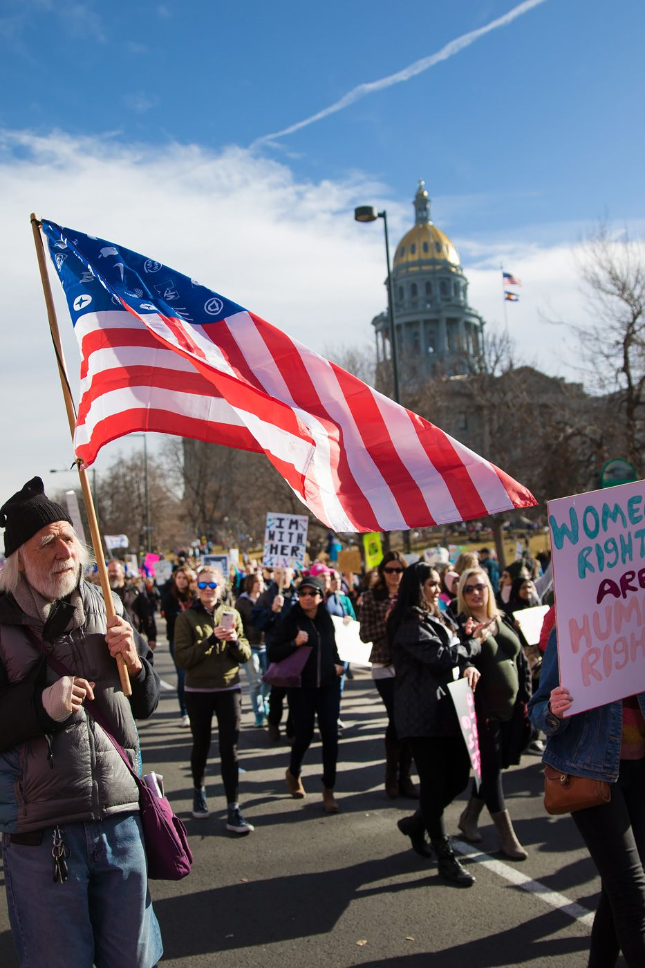 Photos And Signs From Women S March Denver 2018 Greeblehaus Womens March Photo Capitol Building