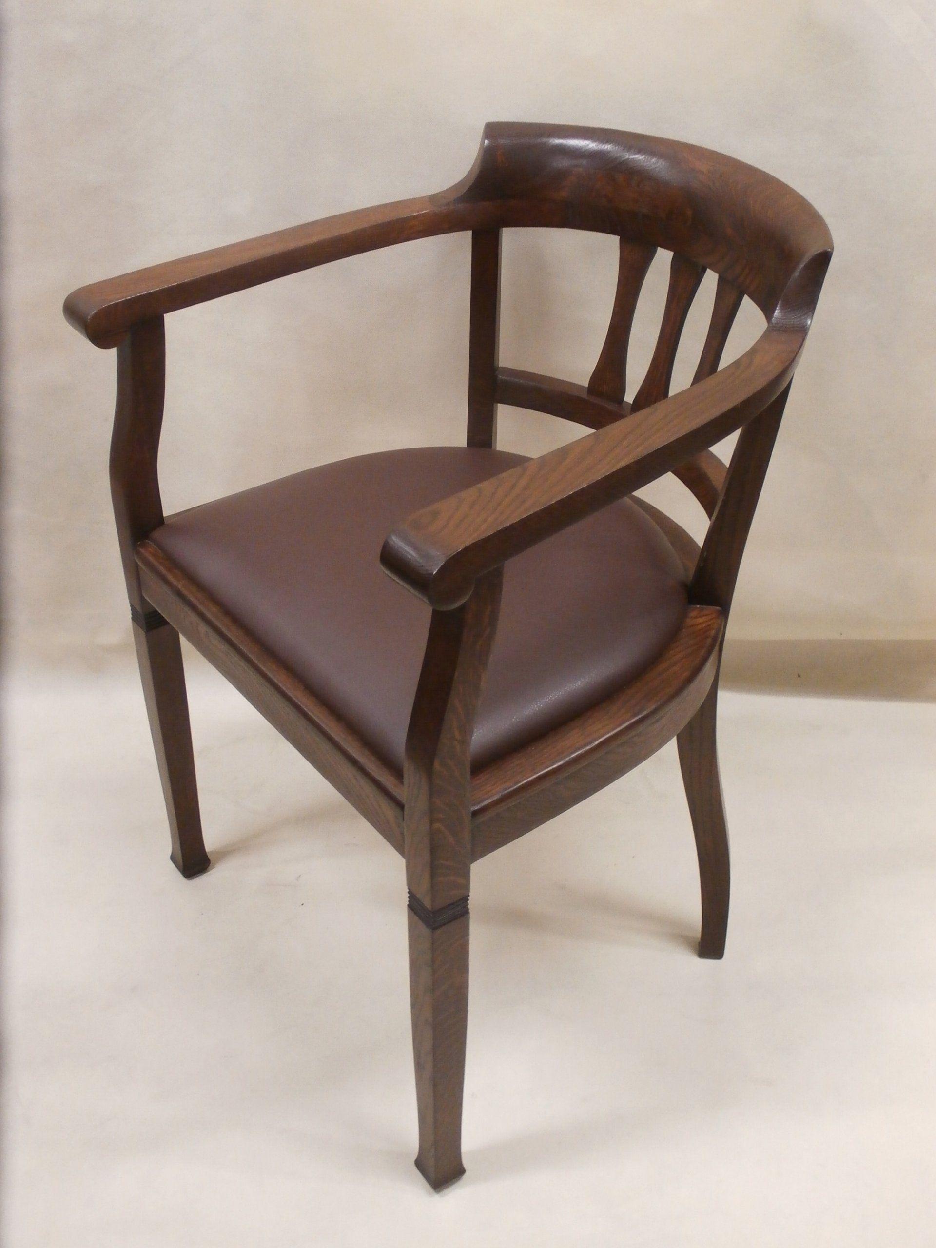 Piękny unikatowy stary fotel secesyjny skóra . Czacz