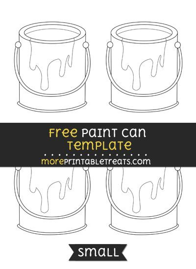 Free Paint Can Template Small Shapes And Templates Printables