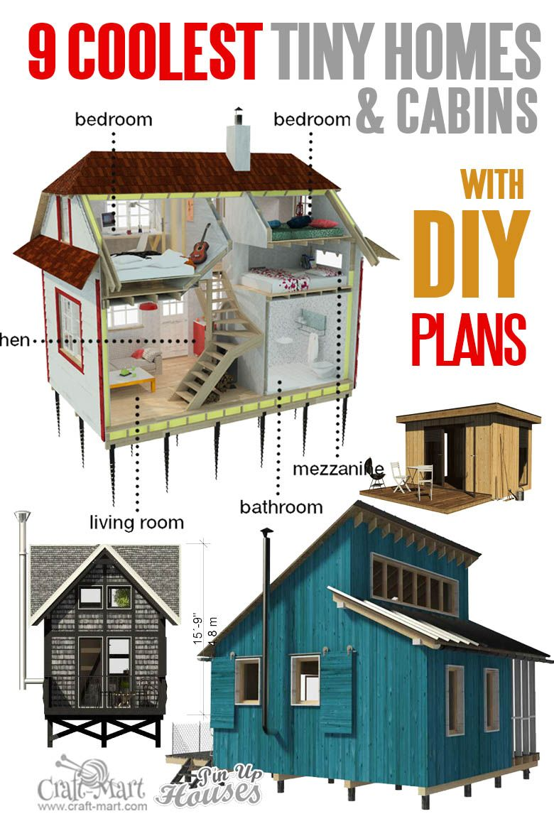 9 Plans Of Tiny Houses With Lofts For Fun Weekend Projects Craft Mart Tiny House Loft Micro House Plans Tiny House Floor Plans