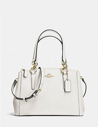 5930103c1ab1 Coach Mini Christie Carryall in Crossgrain Leather Love Coach Bags Need to  add new White one like this little number  ))