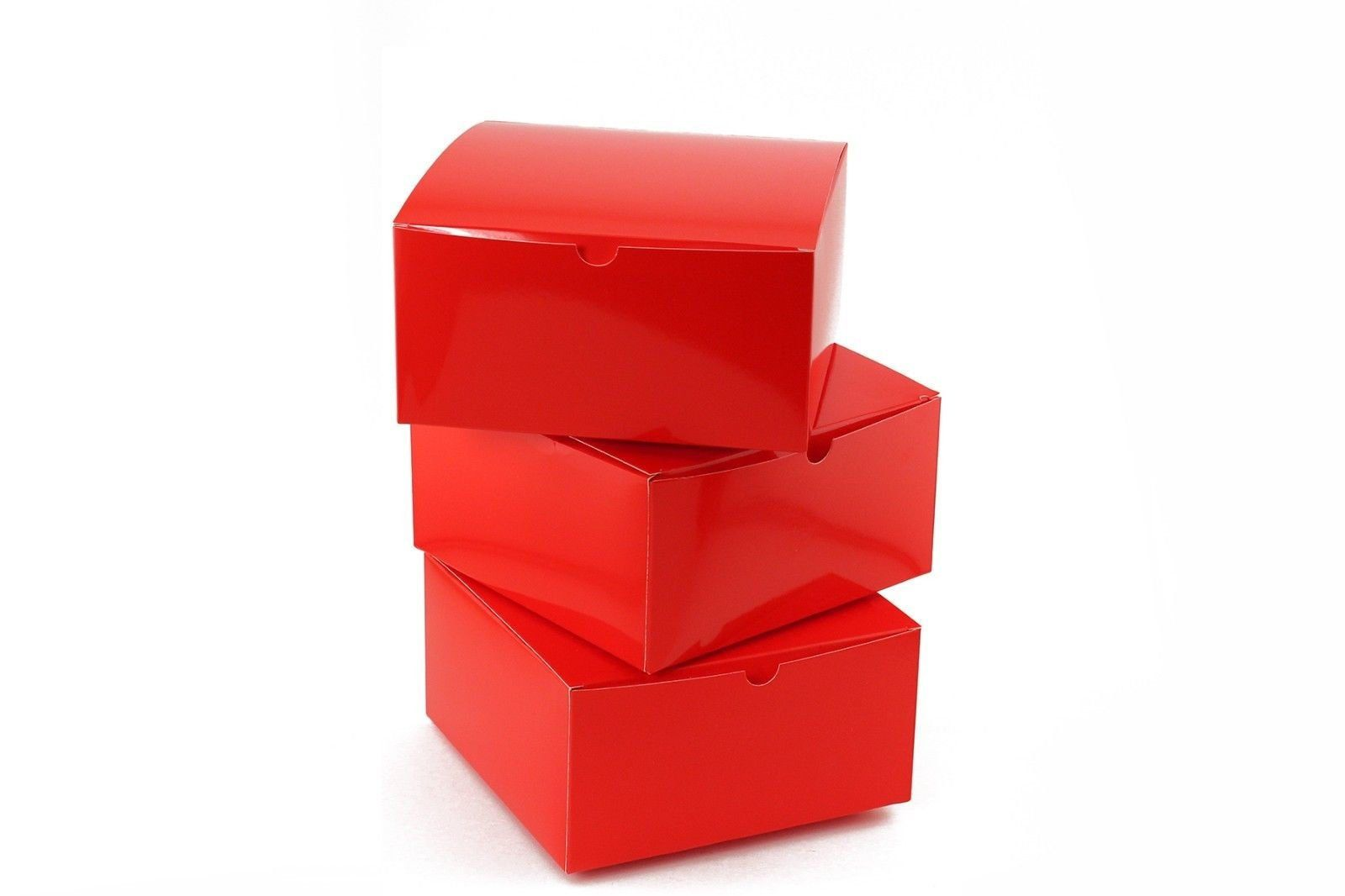 10pc Sunkist Red Paper Gift Boxes With Lids 8 X 8 X 4 Inches Holiday Adult Partys Christmas Boxes In 2020 Gift Boxes With Lids Paper Gift Box Paper Gifts