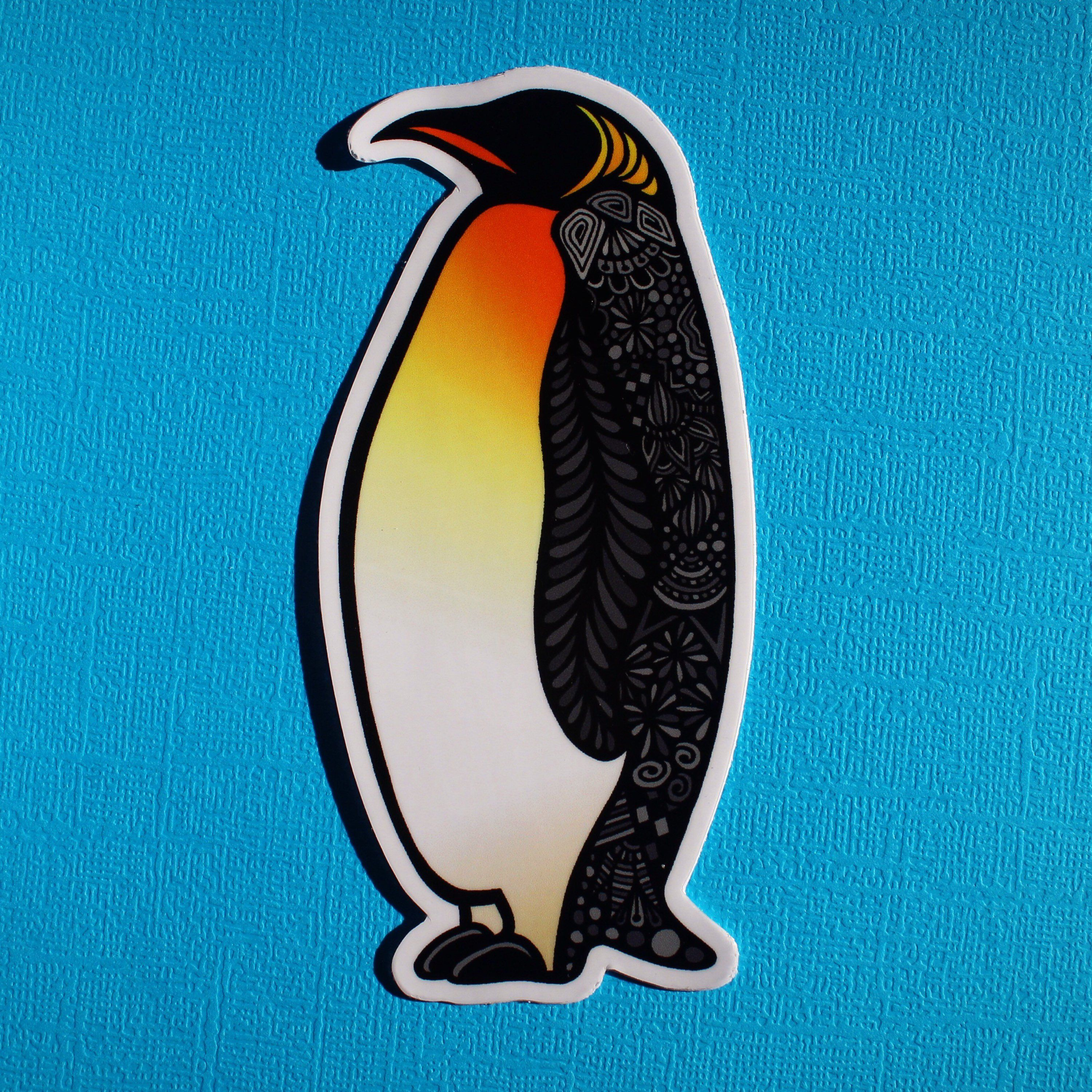 Penguin Waterproof Sticker Hydroflask Aesthetic Laptop Hydro Painting How To Draw Hands Waterproof Stickers
