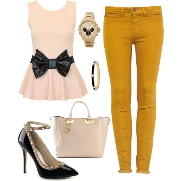 caramel by souchi26 on Polyvore featuring polyvore fashion style Pull&Bear Sophie Hulme MICHAEL Michael Kors Henri Bendel