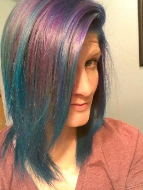 Arctic Fox hair color, Poseidon (blue, purple and aquamarine...