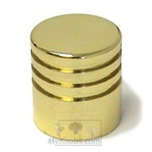 Exceptionnel Pullissimi   Polished Brass Cylinder Knob In Polished Brass   Italbrass