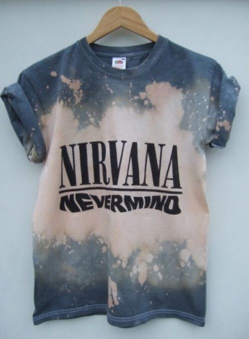 13d487c597a shirt tie dye nirvana grunge t-shirt nevermind acid wash