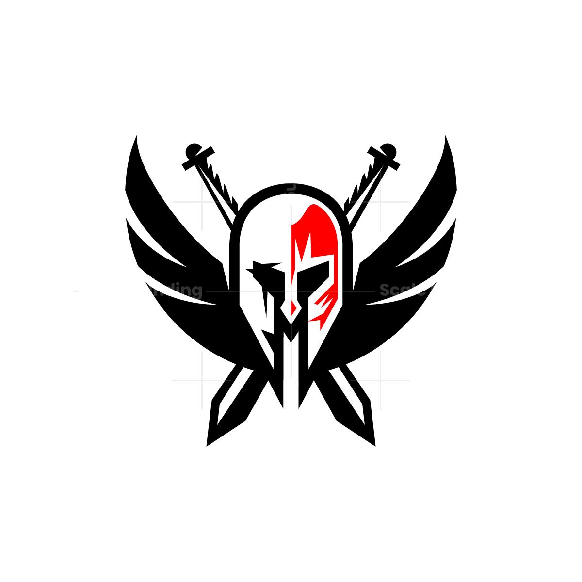 Winged Spartan Helmet Logo Spartan Helmet Helmet Logo Spartan Logo
