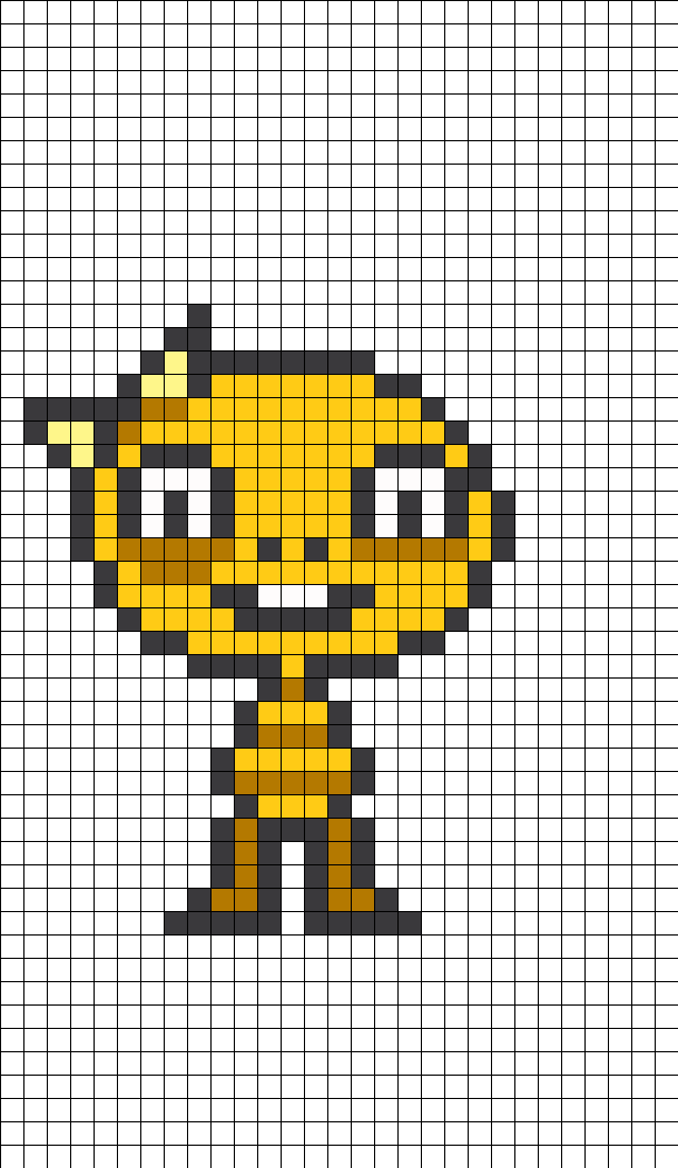 Monster Kid Undertale Perler Bead Pattern | DIY: Perler ...