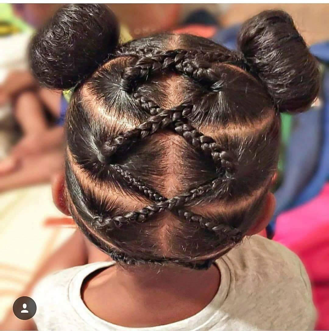 Criss Cross Buns Cute Hairstyles For Kids Hair Styles Natural