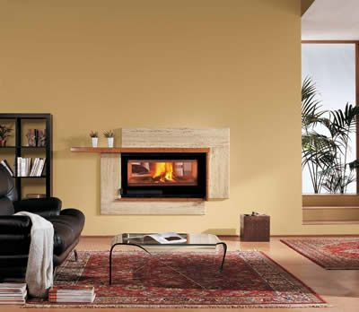 Nordica 100 Bifacciale Double Sided Fireplace - Gas Fireplace