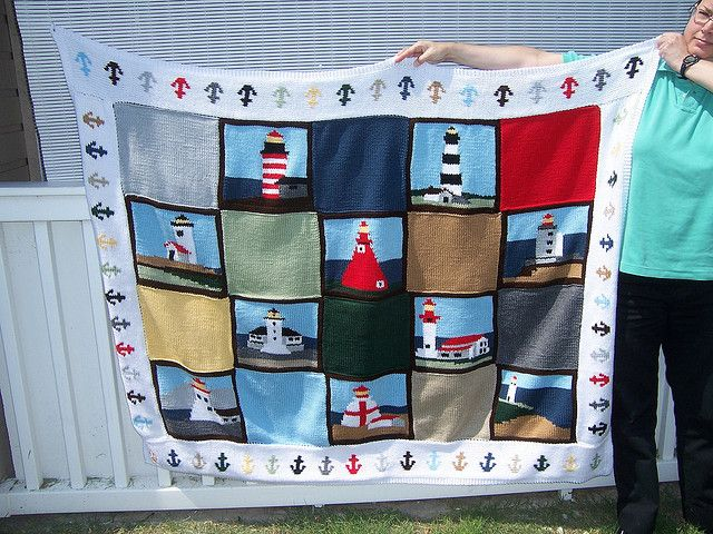 Ravelry: Lighthouses Afghan pattern by Mary Maxim | Crochet