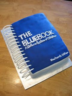 Bluebook Cake Law School Humor Law School Life Law School