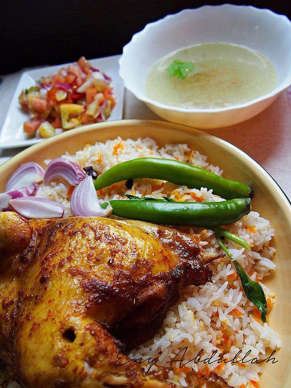 Nasi Arab Paling Simple Enyabdullah Com Resep Makan Malam Makanan Arab Makan Malam