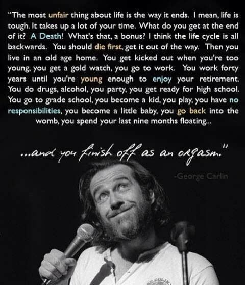 George Carlin Quote Funny Quotes Life Quotes George Carlin